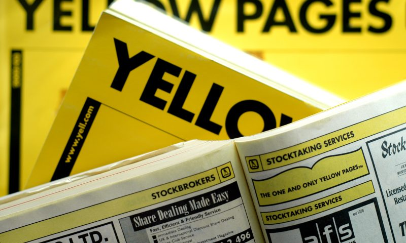 difference between white pages and yellow pages